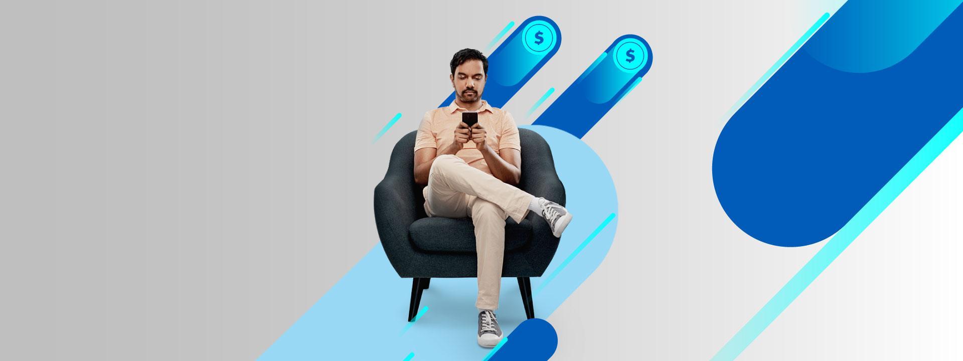 Usuario realizando consulta desde su mobile