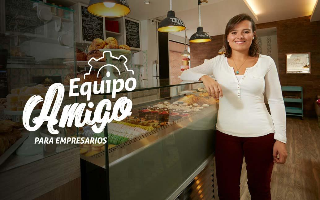 Imagen micro empresaria, logotipo Equipo Amigo