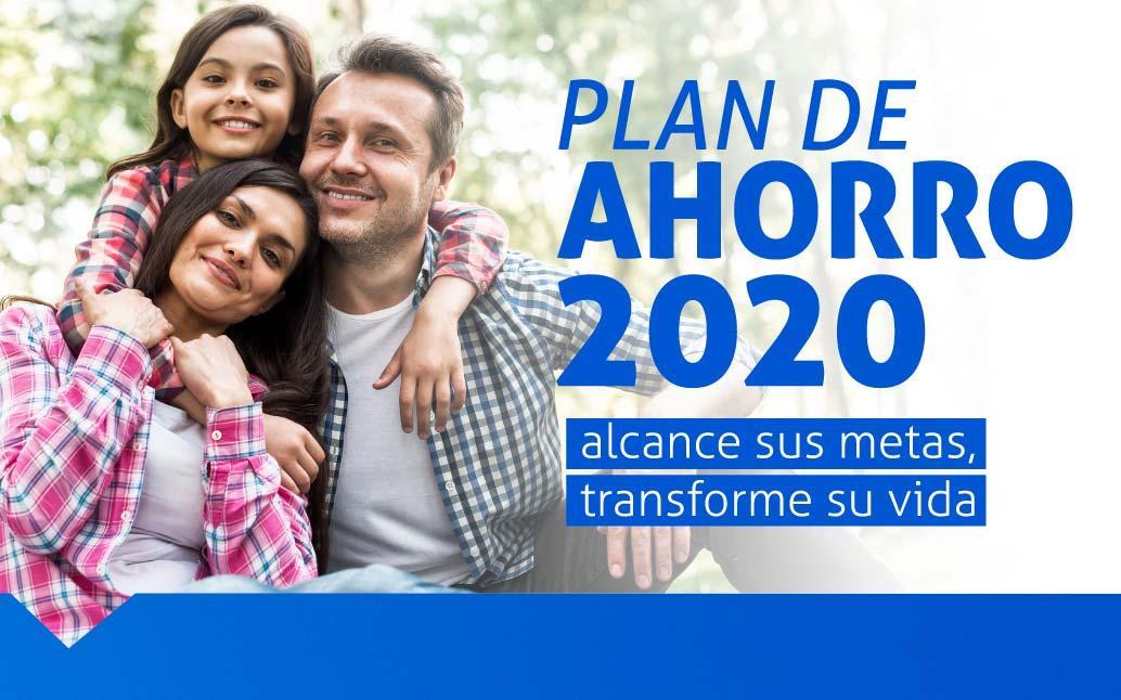 Familia feliz al tener un plan de ahorro para el 2020