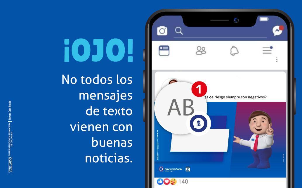imagen de mensaje en pantalla de celular sobre mensajes de texto y  fraude financiero