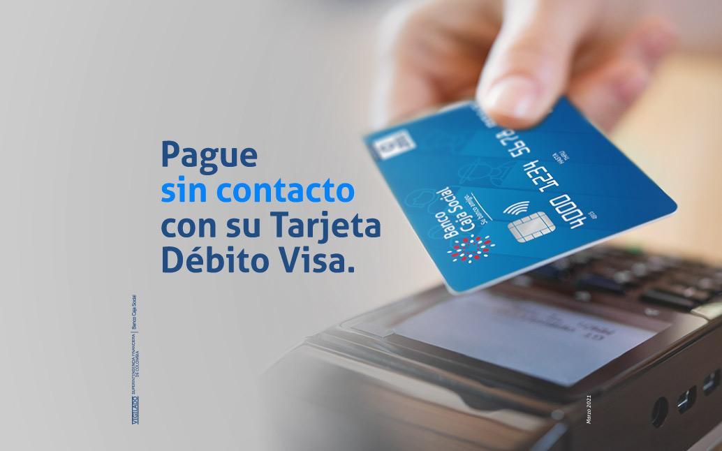 Pague sin contacto con su tarjeta débito Visa